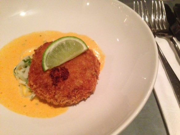 Rose & crown crab cake