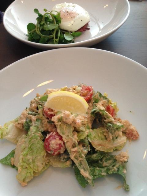 The Almanack Kenilworth hash brown and crab salad