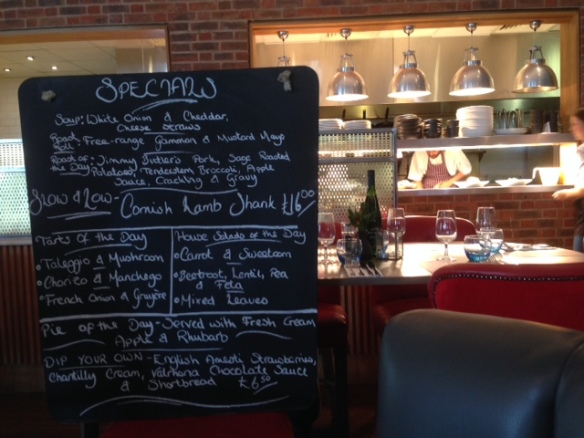 The Almanack Kenilworth specials board