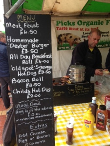 Hot food at Warwick university food market