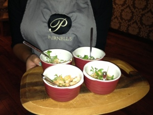 Purnell's Bistro canapes