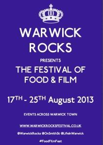 Warwick Rocks Food & Film Festival poster