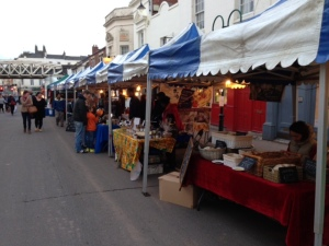 Night market Leamington Old Town