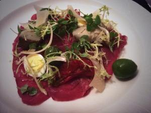Waters on the Square beef carpaccio
