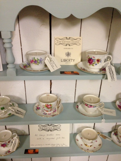 The Vintage Teapot candle cups