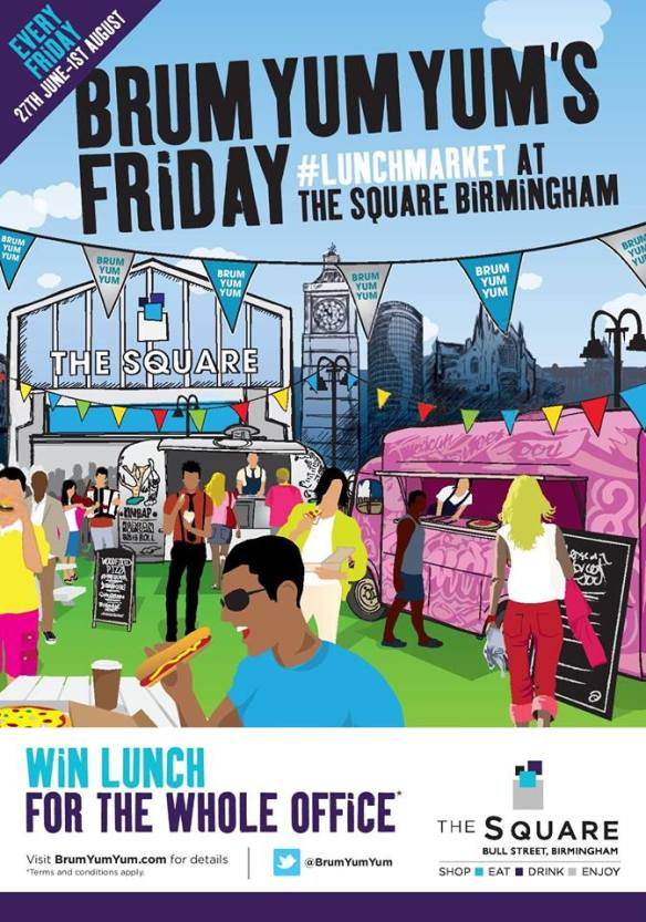 Brum Yum Yum Lunch Market win lunch for the whole office