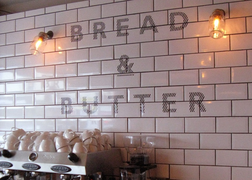 Bread & Butter coffee shop logo
