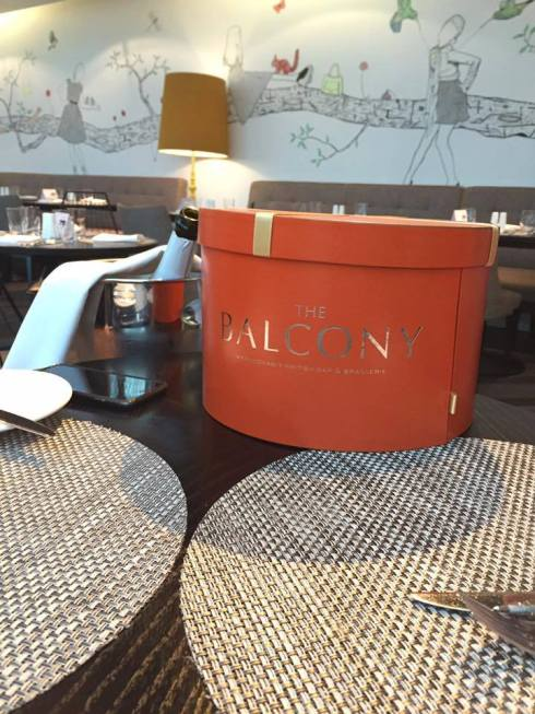 The Balcony afternoon tea hatbox