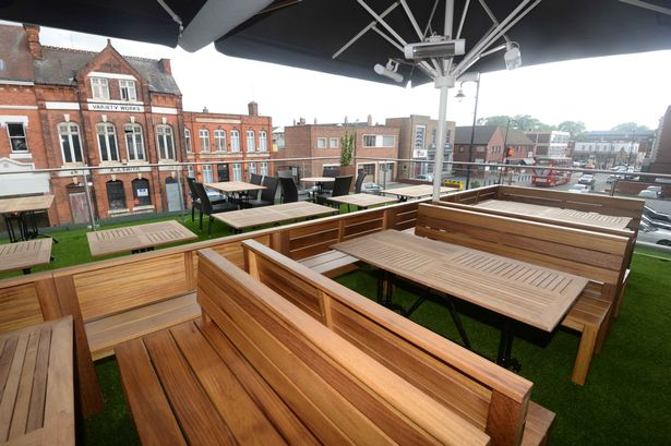 The Button Factory roof terrace Birmingham Mail