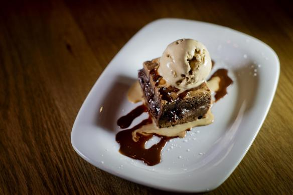 Valrhona Chocolate & Peanut Butter Brownie, Jude's Vanilla Ice Cream The High Field