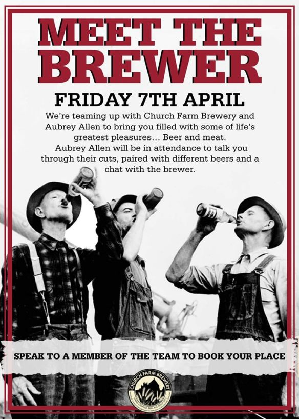 The Star & Garter Meet the Brewer night poster
