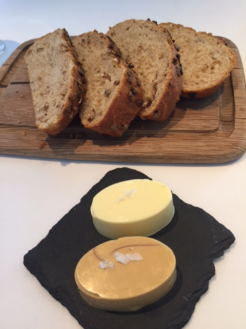 Bread and marmite butter at Restaurant 23 Leamington Spa