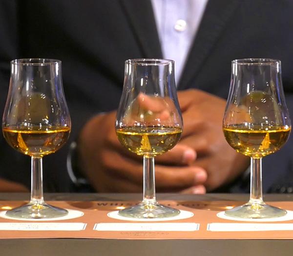 Nicholsons whisky showcase