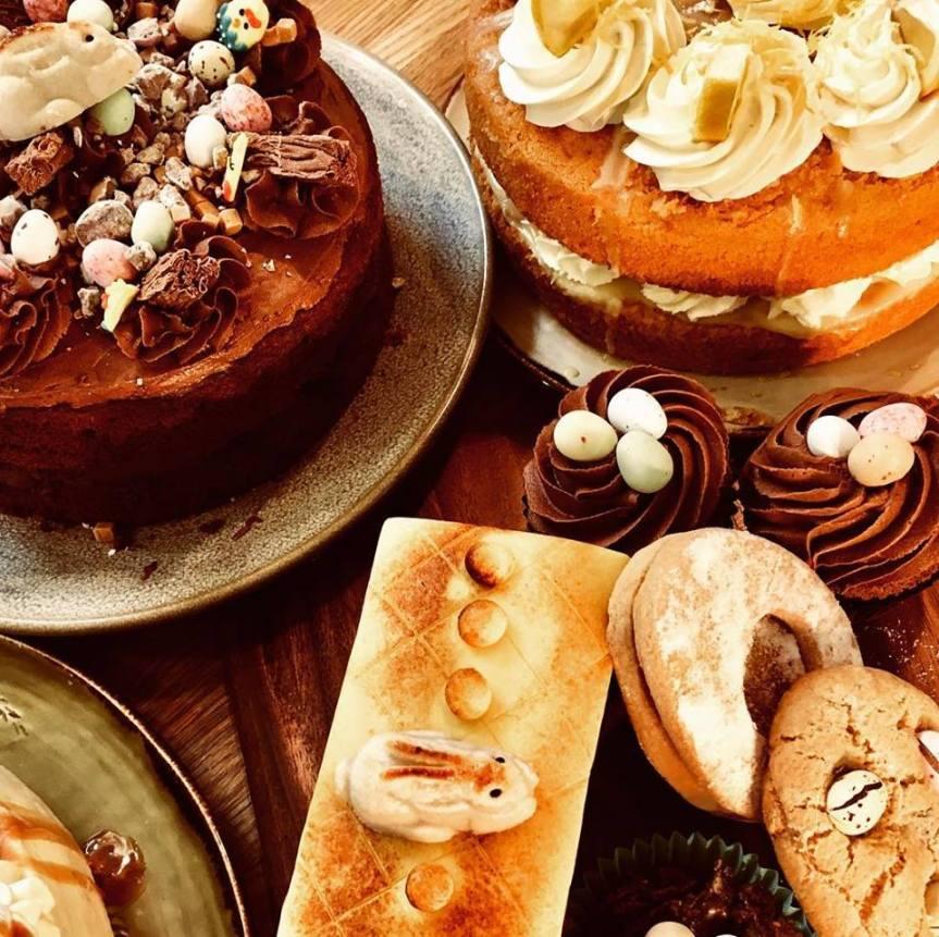 Denstone Hall farm shop cakes