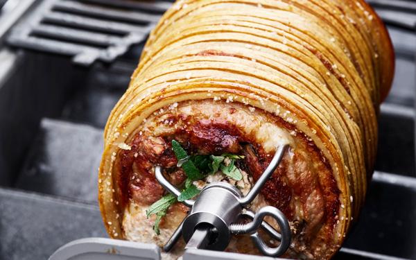 Weber roast belly pork