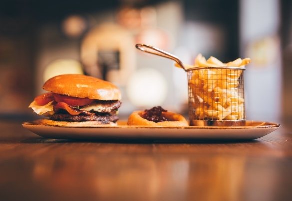 Full Head of Steam Birmingham burger