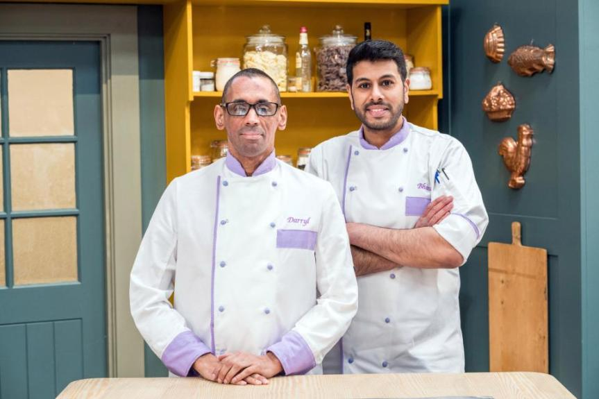 Darryl Collins and sous chef Bharat Chandegra Channel 4_s Bake Off The Professionals 2018