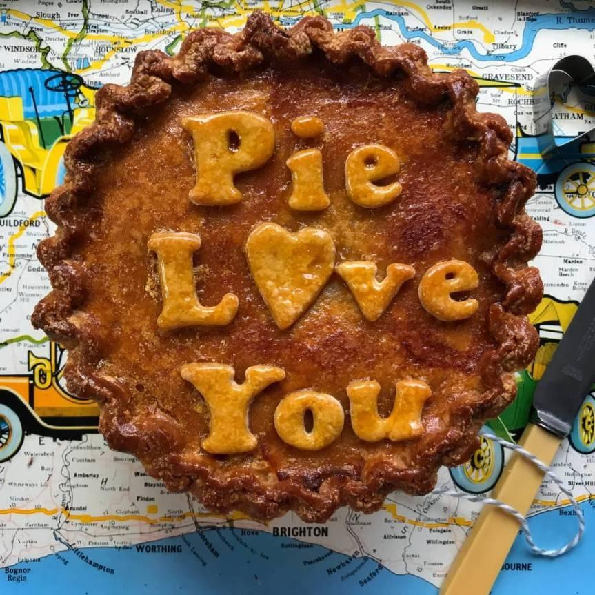 Valentines Day pork pie
