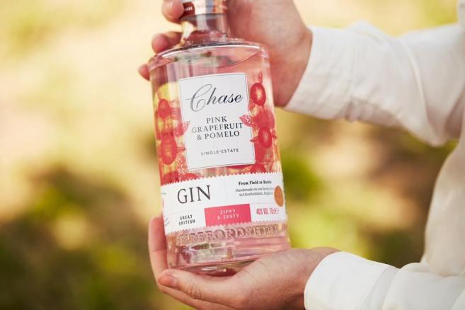 Chase pink grapefruit gin