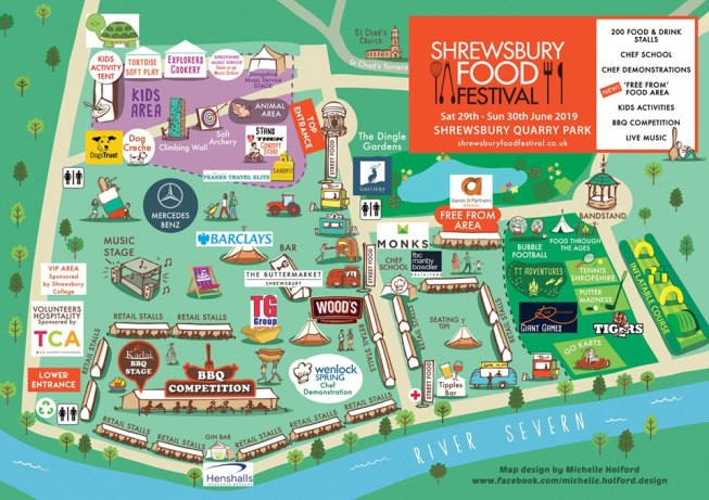 Shrewsbury Food Festival map