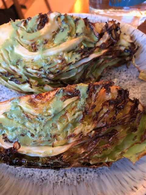 The Butchers Social braised cabbage with wild garlic
