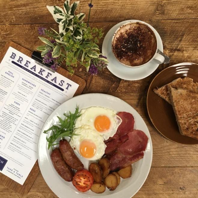 Hilltop Farm Shop breakfast