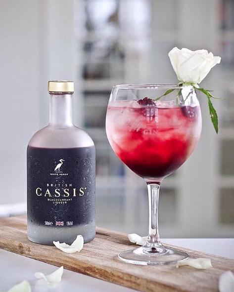 British Cassis cocktail